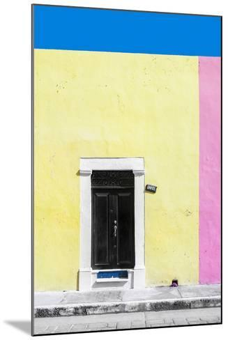?Viva Mexico! Collection - 124 Street Campeche - Yellow & Pink Wall-Philippe Hugonnard-Mounted Photographic Print