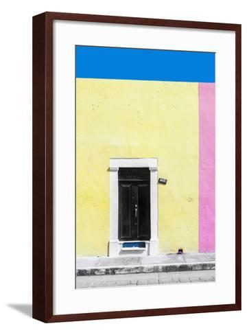 ?Viva Mexico! Collection - 124 Street Campeche - Yellow & Pink Wall-Philippe Hugonnard-Framed Art Print