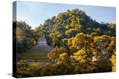 ?Viva Mexico! Collection - Mayan Ruins with Fall Colors at Sunsrise - Palenque-Philippe Hugonnard-Stretched Canvas Print