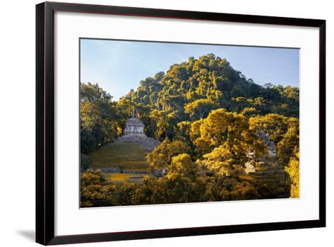?Viva Mexico! Collection - Mayan Ruins with Fall Colors at Sunsrise - Palenque-Philippe Hugonnard-Framed Art Print