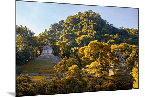 ?Viva Mexico! Collection - Mayan Ruins with Fall Colors at Sunsrise - Palenque-Philippe Hugonnard-Mounted Photographic Print