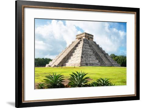 ¡Viva Mexico! Collection - El Castillo Pyramid in Chichen Itza X-Philippe Hugonnard-Framed Art Print