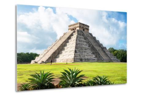 ¡Viva Mexico! Collection - El Castillo Pyramid in Chichen Itza X-Philippe Hugonnard-Metal Print