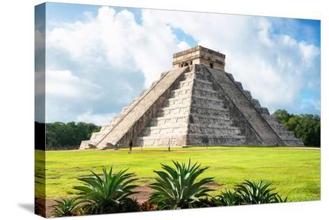 ¡Viva Mexico! Collection - El Castillo Pyramid in Chichen Itza X-Philippe Hugonnard-Stretched Canvas Print