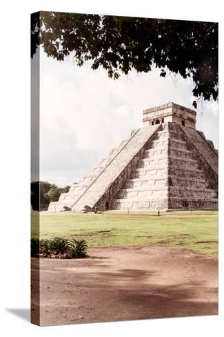 ?Viva Mexico! Collection - El Castillo Pyramid in Chichen Itza IX-Philippe Hugonnard-Stretched Canvas Print