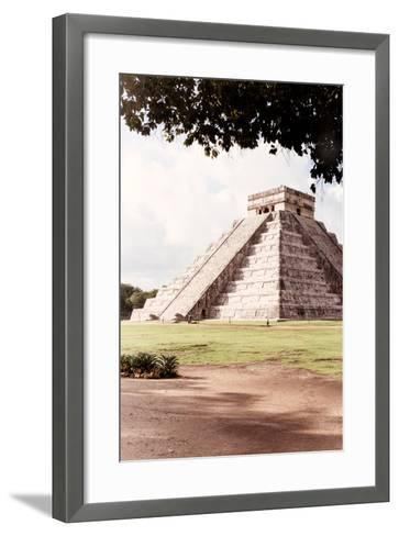 ?Viva Mexico! Collection - El Castillo Pyramid in Chichen Itza IX-Philippe Hugonnard-Framed Art Print
