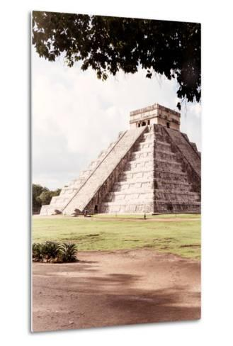 ?Viva Mexico! Collection - El Castillo Pyramid in Chichen Itza IX-Philippe Hugonnard-Metal Print
