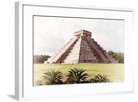 ¡Viva Mexico! Collection - El Castillo Pyramid in Chichen Itza XI-Philippe Hugonnard-Framed Art Print
