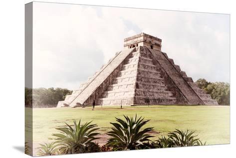 ¡Viva Mexico! Collection - El Castillo Pyramid in Chichen Itza XI-Philippe Hugonnard-Stretched Canvas Print