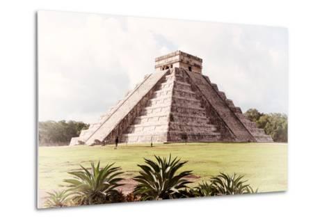 ¡Viva Mexico! Collection - El Castillo Pyramid in Chichen Itza XI-Philippe Hugonnard-Metal Print