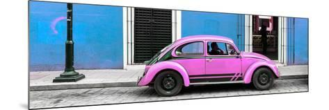 ¡Viva Mexico! Panoramic Collection - VW Beetle Car - Blue & Pink-Philippe Hugonnard-Mounted Photographic Print