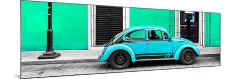 ¡Viva Mexico! Panoramic Collection - VW Beetle Car - Coral Green & Turquoise-Philippe Hugonnard-Mounted Photographic Print