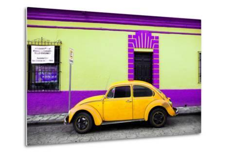 ?Viva Mexico! Collection - Classic Yellow VW Beetle Car and Colorful Wall-Philippe Hugonnard-Metal Print
