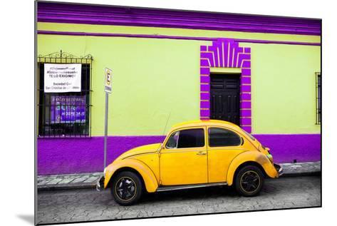 ?Viva Mexico! Collection - Classic Yellow VW Beetle Car and Colorful Wall-Philippe Hugonnard-Mounted Photographic Print