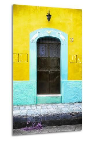 ¡Viva Mexico! Collection - 19e Door and Yellow Wall-Philippe Hugonnard-Metal Print
