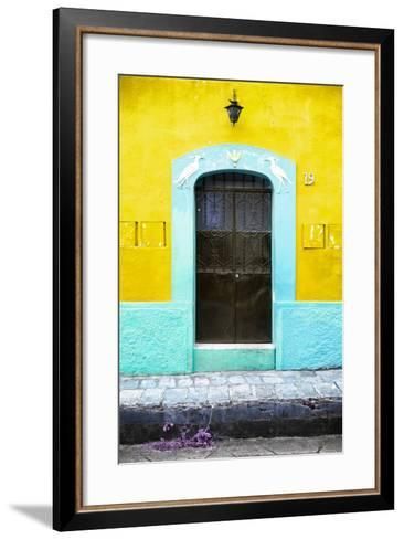 ¡Viva Mexico! Collection - 19e Door and Yellow Wall-Philippe Hugonnard-Framed Art Print