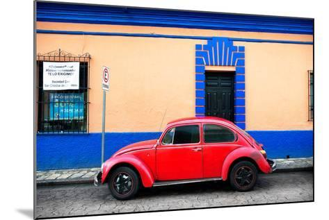 ?Viva Mexico! Collection - Classic Red VW Beetle Car and Colorful Wall-Philippe Hugonnard-Mounted Photographic Print