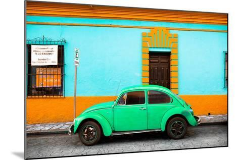 ¡Viva Mexico! Collection - Classic Green VW Beetle Car and Colorful Wall-Philippe Hugonnard-Mounted Photographic Print