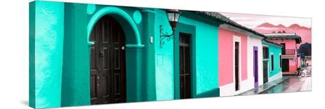 ¡Viva Mexico! Panoramic Collection - Colorful Street Scene San Cristobal de Las Casas III-Philippe Hugonnard-Stretched Canvas Print
