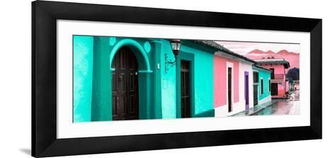 ¡Viva Mexico! Panoramic Collection - Colorful Street Scene San Cristobal de Las Casas III-Philippe Hugonnard-Framed Art Print