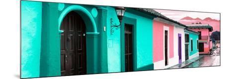 ¡Viva Mexico! Panoramic Collection - Colorful Street Scene San Cristobal de Las Casas III-Philippe Hugonnard-Mounted Photographic Print