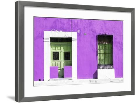¡Viva Mexico! Collection - 130 Street Campeche - Purple Wall-Philippe Hugonnard-Framed Art Print