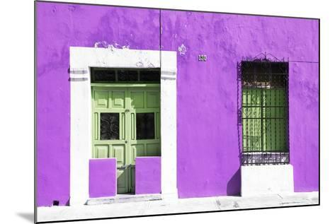 ¡Viva Mexico! Collection - 130 Street Campeche - Purple Wall-Philippe Hugonnard-Mounted Photographic Print