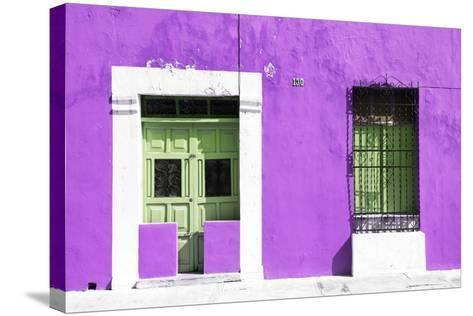 ¡Viva Mexico! Collection - 130 Street Campeche - Purple Wall-Philippe Hugonnard-Stretched Canvas Print