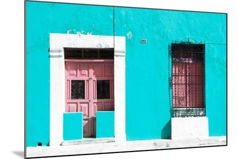 ¡Viva Mexico! Collection - 130 Street Campeche - Turquoise Wall-Philippe Hugonnard-Mounted Photographic Print