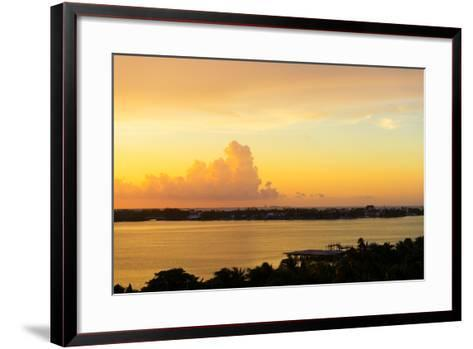 ?Viva Mexico! Collection - Sunset over Cancun-Philippe Hugonnard-Framed Art Print