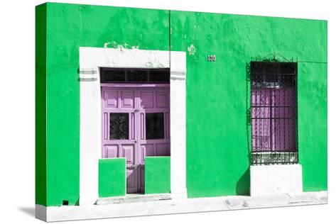 ¡Viva Mexico! Collection - 130 Street Campeche - Green Wall-Philippe Hugonnard-Stretched Canvas Print