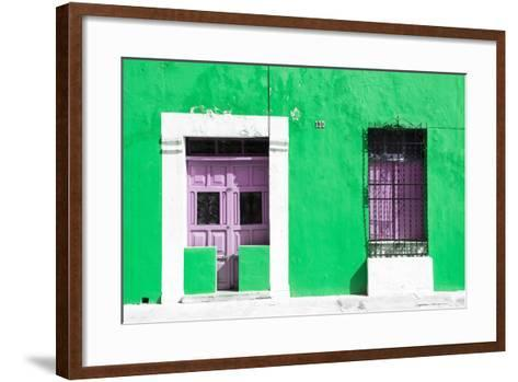 ¡Viva Mexico! Collection - 130 Street Campeche - Green Wall-Philippe Hugonnard-Framed Art Print