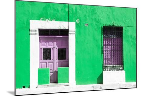 ¡Viva Mexico! Collection - 130 Street Campeche - Green Wall-Philippe Hugonnard-Mounted Photographic Print