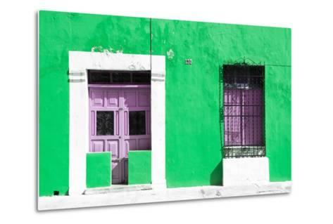 ¡Viva Mexico! Collection - 130 Street Campeche - Green Wall-Philippe Hugonnard-Metal Print