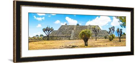 ¡Viva Mexico! Panoramic Collection - Pyramid of Cantona Archaeological Ruins VI-Philippe Hugonnard-Framed Art Print