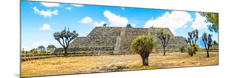 ¡Viva Mexico! Panoramic Collection - Pyramid of Cantona Archaeological Ruins VI-Philippe Hugonnard-Mounted Photographic Print