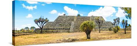 ¡Viva Mexico! Panoramic Collection - Pyramid of Cantona Archaeological Ruins VI-Philippe Hugonnard-Stretched Canvas Print