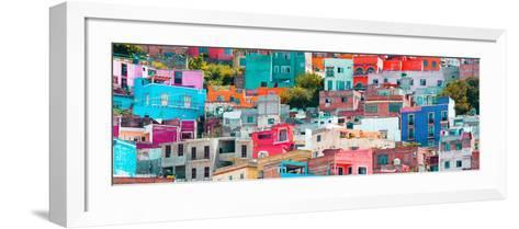 ¡Viva Mexico! Panoramic Collection - Colorful Cityscape Guanajuato XIV-Philippe Hugonnard-Framed Art Print