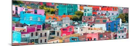 ¡Viva Mexico! Panoramic Collection - Colorful Cityscape Guanajuato XIV-Philippe Hugonnard-Mounted Photographic Print