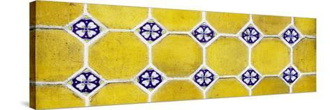¡Viva Mexico! Panoramic Collection - Wall of Yellow Mosaics-Philippe Hugonnard-Stretched Canvas Print