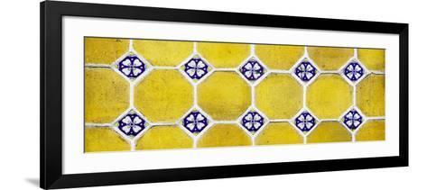 ¡Viva Mexico! Panoramic Collection - Wall of Yellow Mosaics-Philippe Hugonnard-Framed Art Print