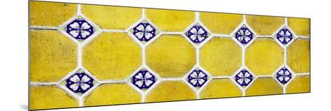 ¡Viva Mexico! Panoramic Collection - Wall of Yellow Mosaics-Philippe Hugonnard-Mounted Photographic Print