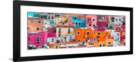 ¡Viva Mexico! Panoramic Collection - Colorful Cityscape Guanajuato XIII-Philippe Hugonnard-Framed Art Print