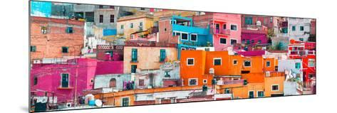¡Viva Mexico! Panoramic Collection - Colorful Cityscape Guanajuato XIII-Philippe Hugonnard-Mounted Photographic Print
