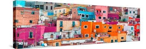 ¡Viva Mexico! Panoramic Collection - Colorful Cityscape Guanajuato XIII-Philippe Hugonnard-Stretched Canvas Print