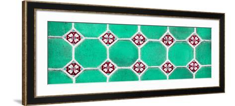 ¡Viva Mexico! Panoramic Collection - Wall of Green Mosaics-Philippe Hugonnard-Framed Art Print