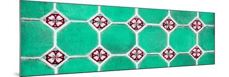 ¡Viva Mexico! Panoramic Collection - Wall of Green Mosaics-Philippe Hugonnard-Mounted Photographic Print