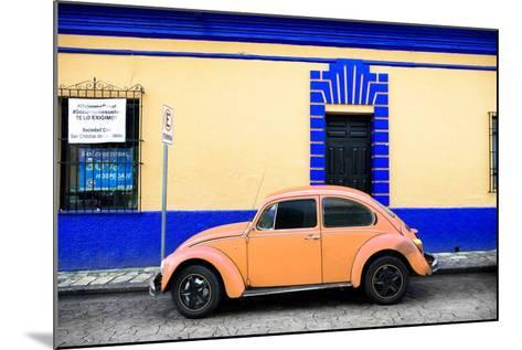 ¡Viva Mexico! Collection - Classic Coral VW Beetle Car and Colorful Wall-Philippe Hugonnard-Mounted Photographic Print