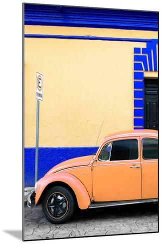 ?Viva Mexico! Collection - Orange VW Beetle Car and Colorful Wall-Philippe Hugonnard-Mounted Photographic Print