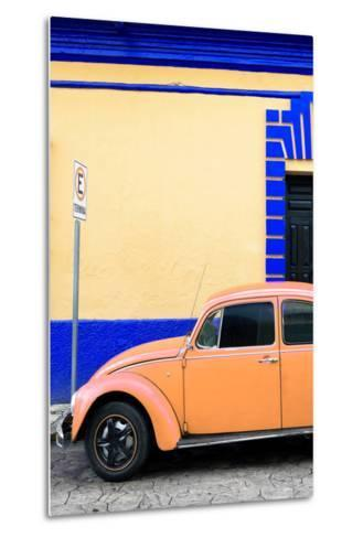 ?Viva Mexico! Collection - Orange VW Beetle Car and Colorful Wall-Philippe Hugonnard-Metal Print